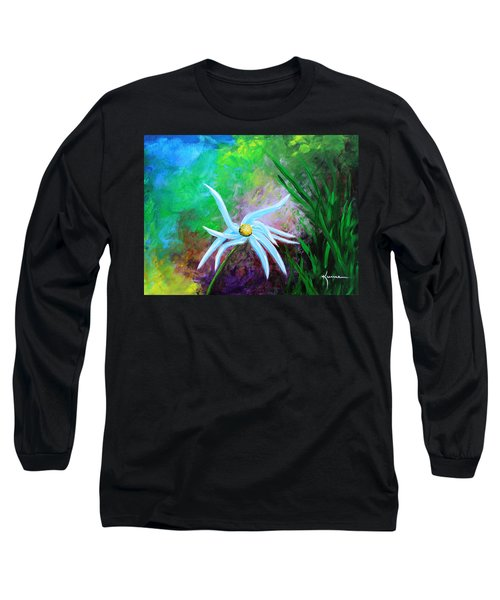 Long Sleeve T-Shirt featuring the painting Wild Daisy 2 by Kume Bryant