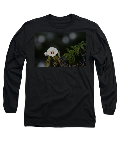 Long Sleeve T-Shirt featuring the photograph Wildflower On Fence by Ed Gleichman