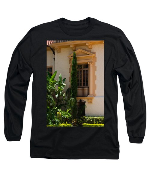 Long Sleeve T-Shirt featuring the photograph Window At The Biltmore by Ed Gleichman