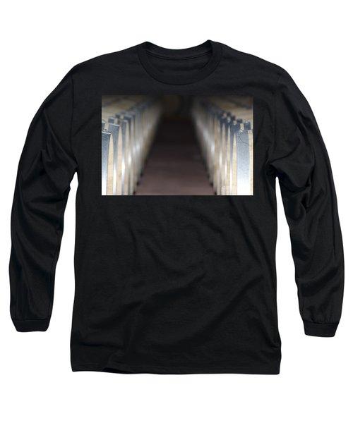 Wine Barrels In Line Long Sleeve T-Shirt