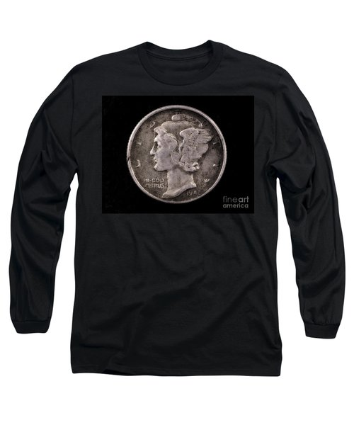 Winged Liberty Mercury Silver Dime Coin Long Sleeve T-Shirt