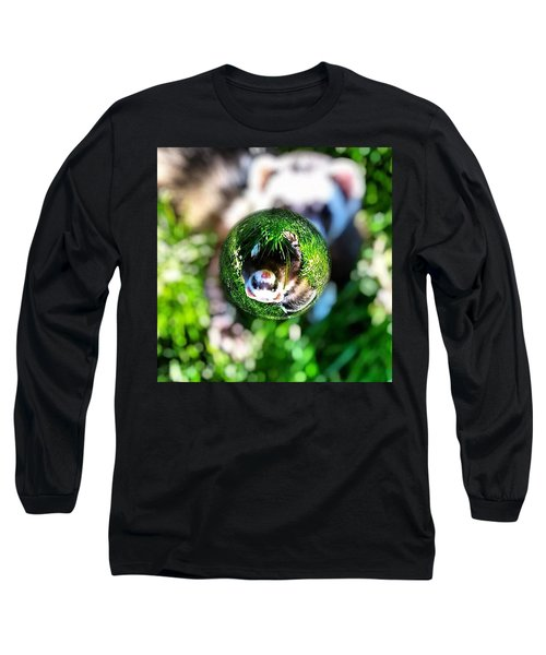 Winnie - A Ferret In A Marble Long Sleeve T-Shirt