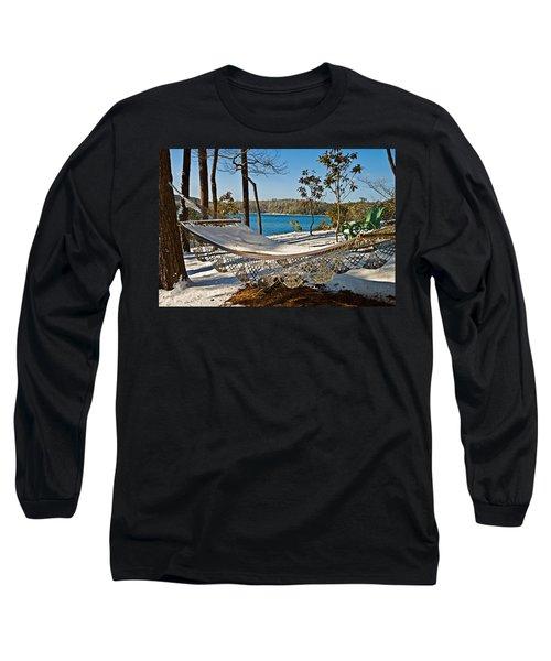 Long Sleeve T-Shirt featuring the photograph Winter Hammock by Susan Leggett