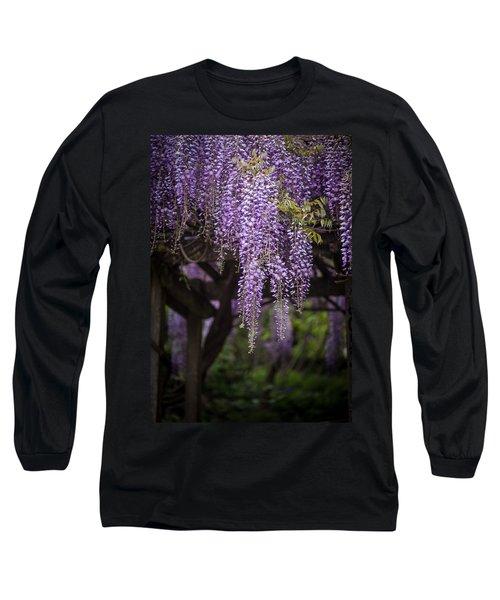 Wisteria Droplets Long Sleeve T-Shirt
