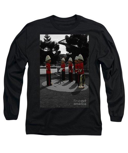 Long Sleeve T-Shirt featuring the photograph Wooden Bandsmen by Blair Stuart