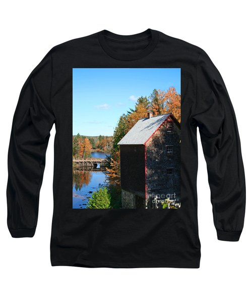 Long Sleeve T-Shirt featuring the photograph Working Gristmill by Barbara McMahon