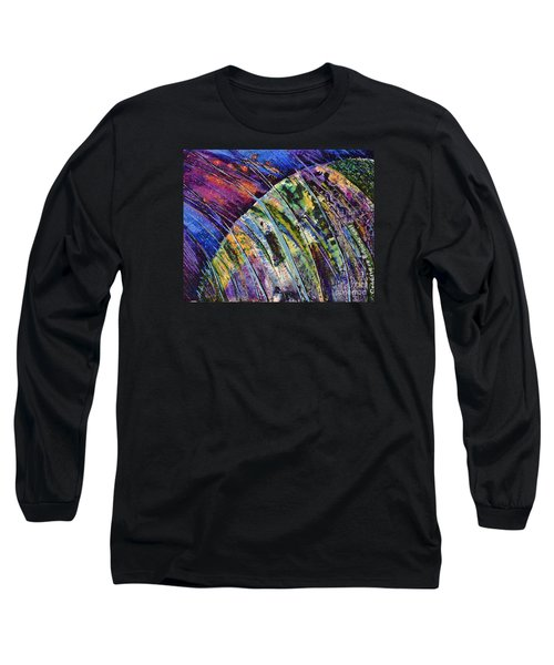 World In A Spin Long Sleeve T-Shirt by Genevieve Brown