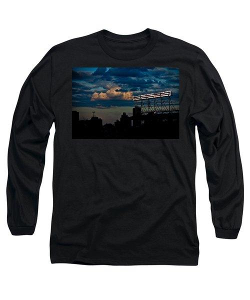 Wrigley Field Light Stand Long Sleeve T-Shirt