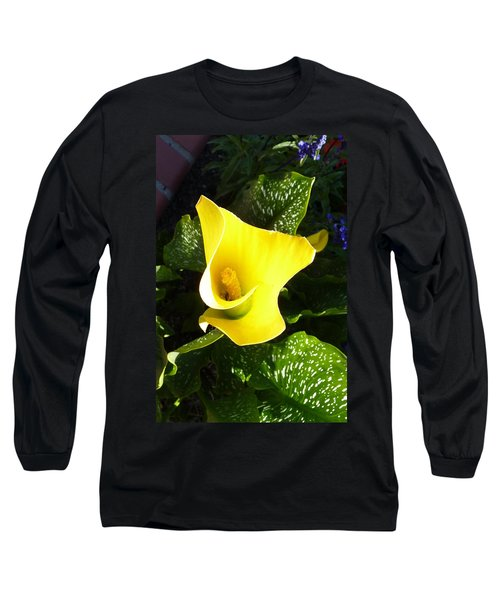 Yellow Calla Lily Long Sleeve T-Shirt by Carla Parris