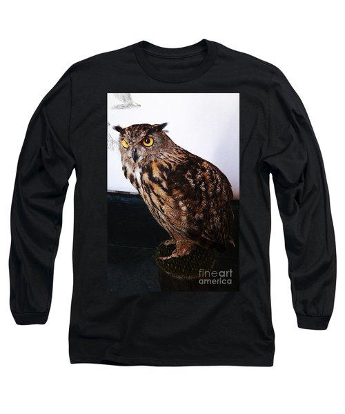 Yellow-eyed Owl Side Long Sleeve T-Shirt