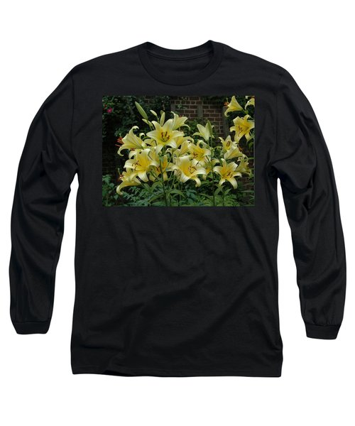 Yellow Oriental Stargazer Lilies Long Sleeve T-Shirt