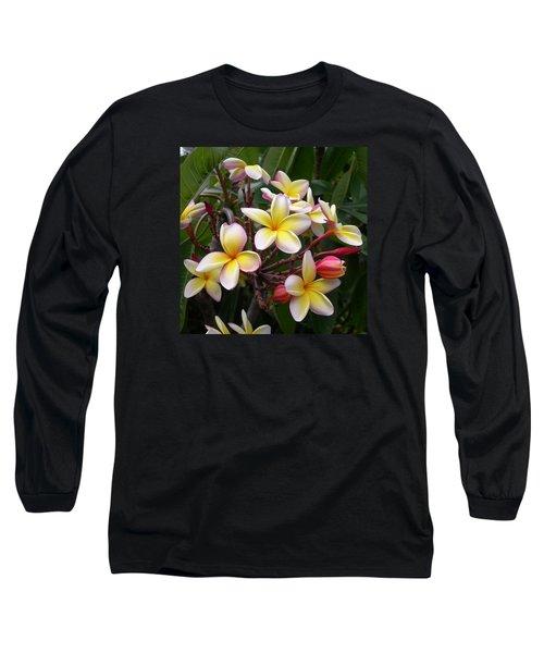 Yellow Plumeria Long Sleeve T-Shirt
