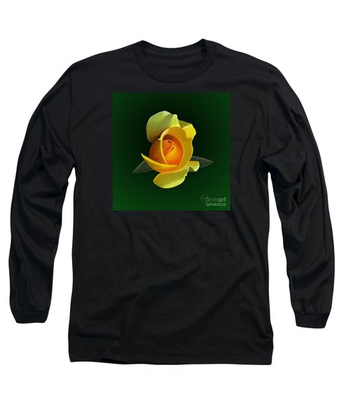Long Sleeve T-Shirt featuring the painting Yellow Rose by Rand Herron