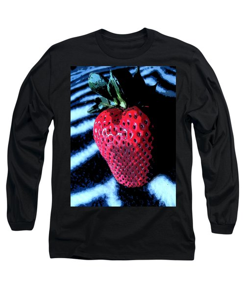 Long Sleeve T-Shirt featuring the photograph Zebra Strawberry by Kym Backland