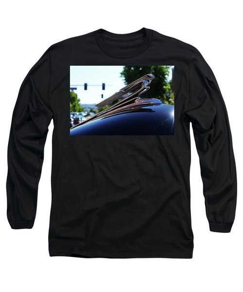 1941 Cheverolet Hood Ornament Long Sleeve T-Shirt by Ansel Price