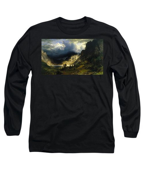 A Storm In The Rocky Mountains Mt. Rosalie Long Sleeve T-Shirt