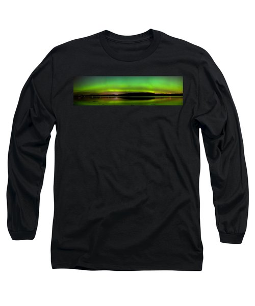 Aurora Over The Beauly Firth Long Sleeve T-Shirt