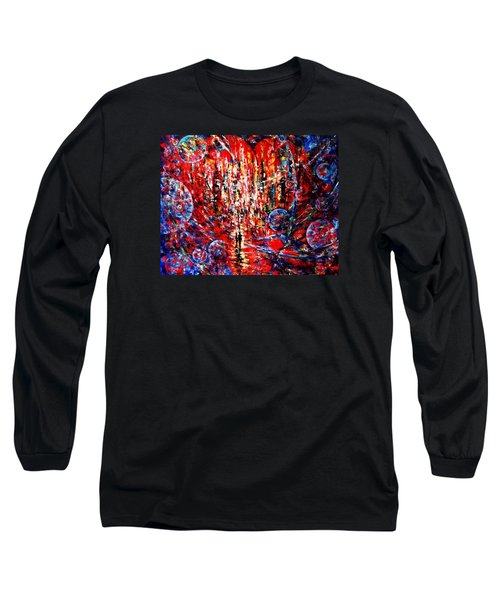City Of Light Long Sleeve T-Shirt by Helen Kagan