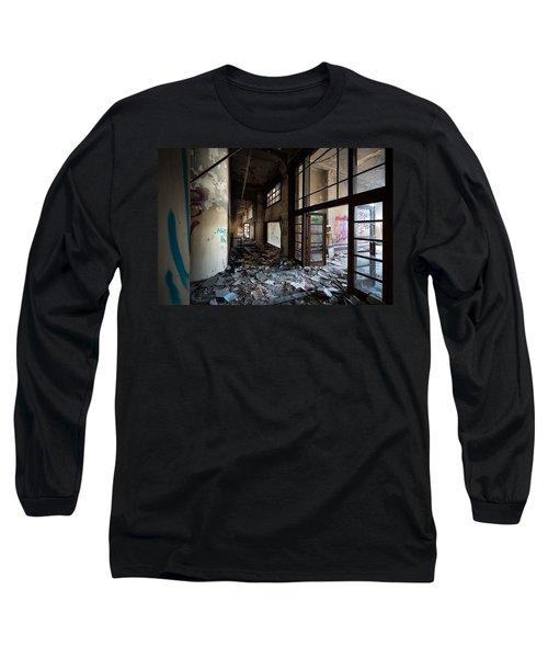 Demolished School Building- Urban Decay Long Sleeve T-Shirt