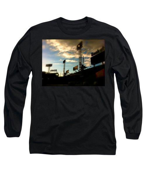 Fenway Lights Fenway Park David Pucciarelli  Long Sleeve T-Shirt