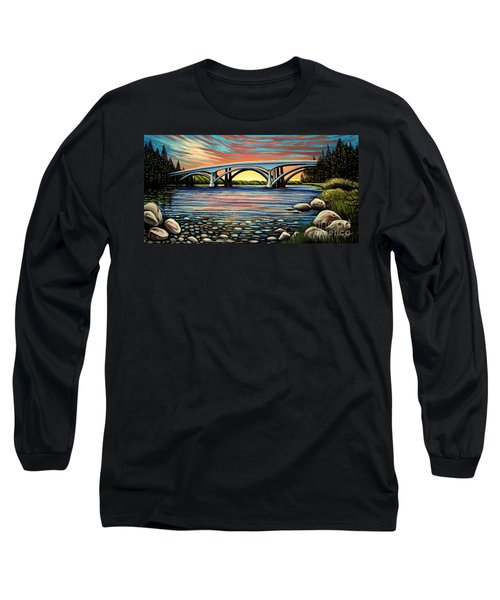 Folsom Bridge Long Sleeve T-Shirt