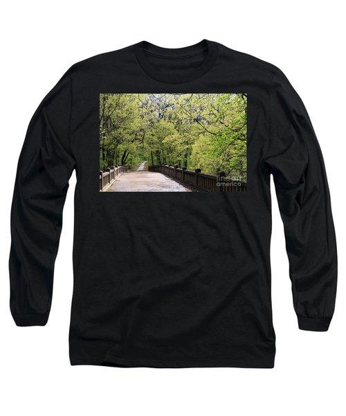 Matthiessen State Park In Spring Long Sleeve T-Shirt by Paula Guttilla