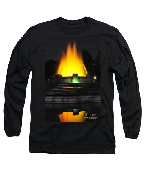 Mulholland Fountain Reflection Long Sleeve T-Shirt