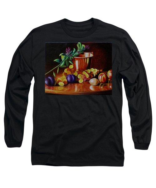 Pail Of Plenty Long Sleeve T-Shirt by Gene Gregory
