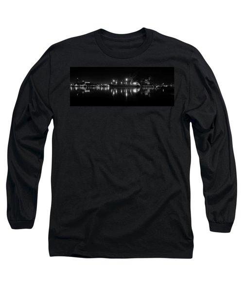 Point Lights Bw Long Sleeve T-Shirt