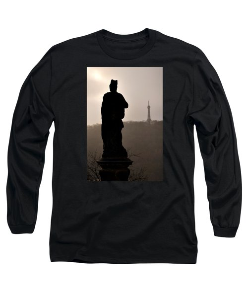 Statue And Petrin Tower Long Sleeve T-Shirt