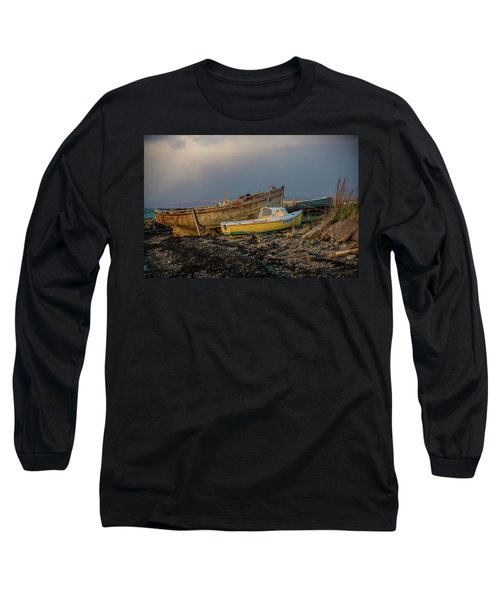 Sunset In The Highlands Long Sleeve T-Shirt by Terry Cosgrave