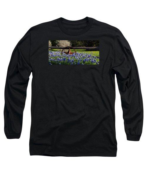 Texas Bluebonnets IIi Long Sleeve T-Shirt by Greg Reed