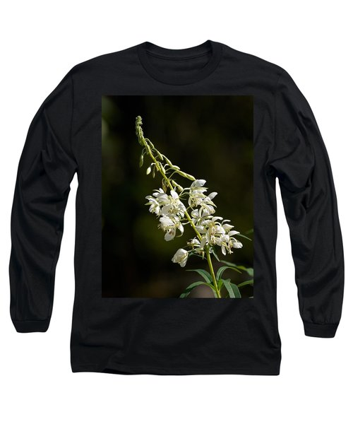 Long Sleeve T-Shirt featuring the photograph  White Fireweed by Jouko Lehto