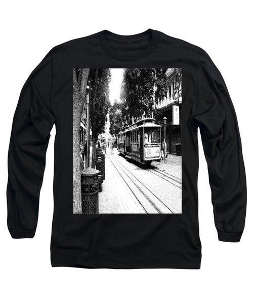 021016 San Francisco Trolly Long Sleeve T-Shirt by Garland Oldham