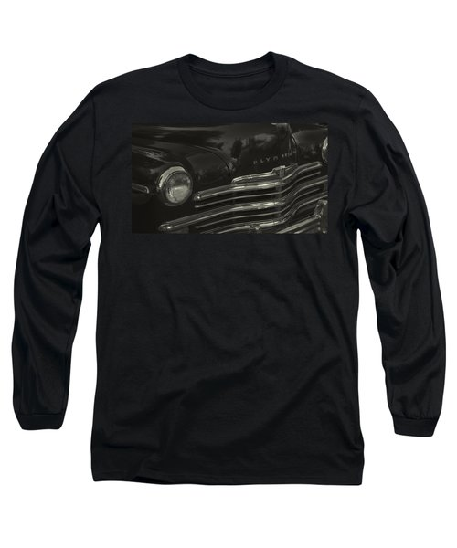 1949 Plymouth Deluxe  Long Sleeve T-Shirt by Cathy Anderson