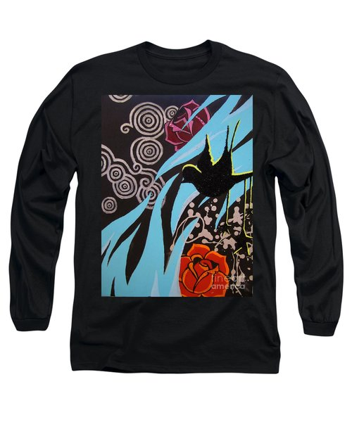 Long Sleeve T-Shirt featuring the painting A Beautiful Flight by Ashley Price