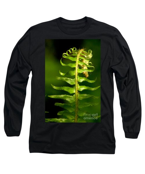 A Light In The Forest Long Sleeve T-Shirt by Sean Griffin