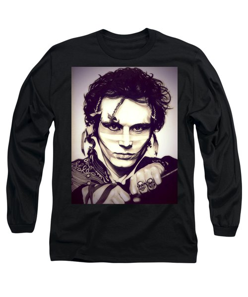 Adam Ant Long Sleeve T-Shirt by Fred Larucci