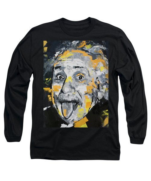 Long Sleeve T-Shirt featuring the painting Albert Einstein by Richard Day