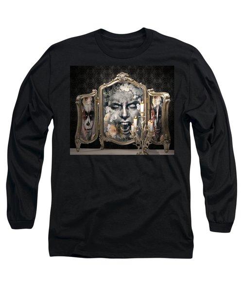 Antique Vampire Paintings Long Sleeve T-Shirt