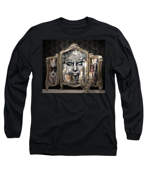 Antique Vampire Paintings Long Sleeve T-Shirt