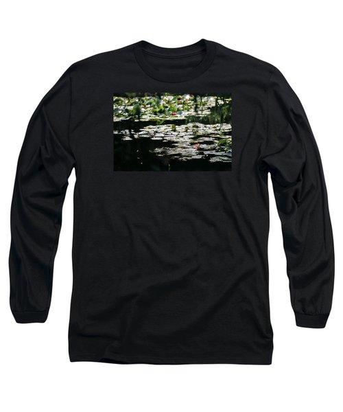 Long Sleeve T-Shirt featuring the photograph At Claude Monet's Water Garden 7 by Dubi Roman
