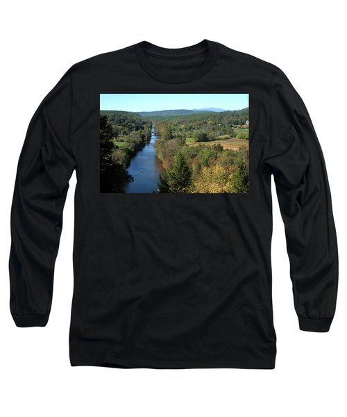 Autumn Landscape With Tye River In Nelson County, Virginia Long Sleeve T-Shirt