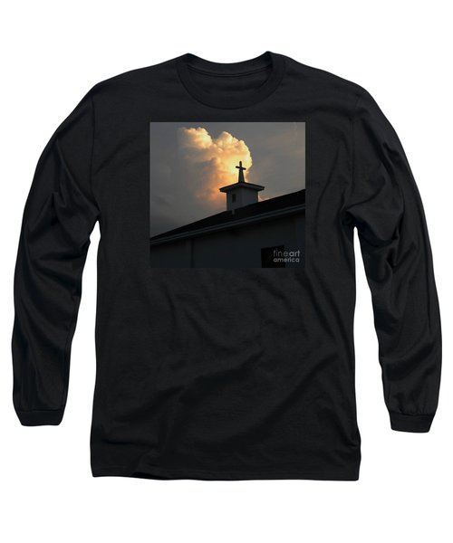 Reaching Baby Angel At The Cross Long Sleeve T-Shirt