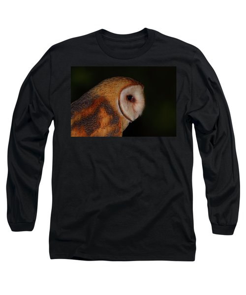 Barn Owl Profile Long Sleeve T-Shirt