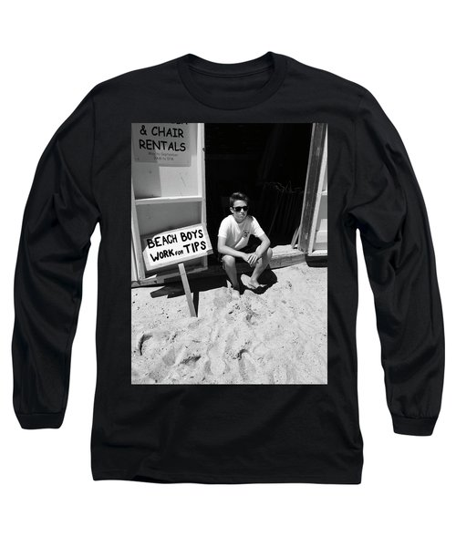 Beach Boys Work For Tips Long Sleeve T-Shirt