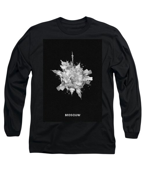 Black Skyround Art Of Moscow, Russia Long Sleeve T-Shirt
