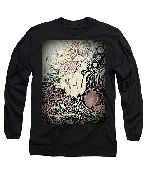 Blowing Bubbles Long Sleeve T-Shirt by Yolanda Rodriguez
