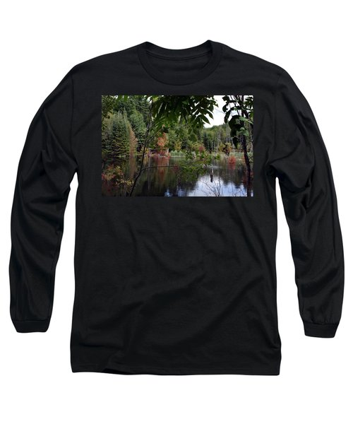 Blueberry Mountain Long Sleeve T-Shirt by Pat Purdy
