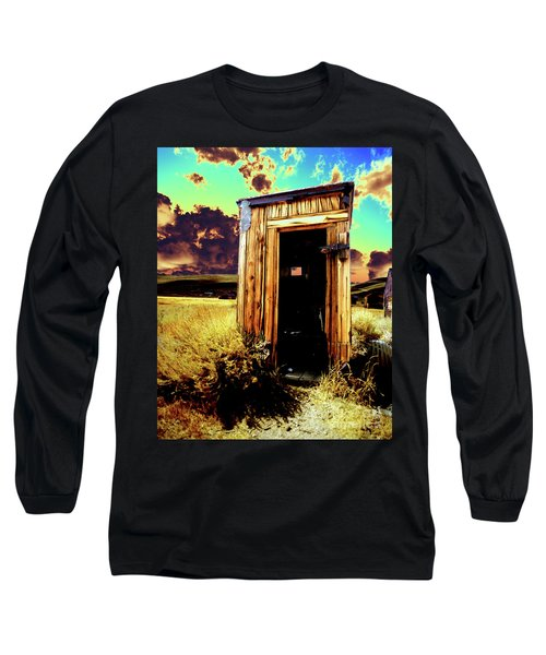 Long Sleeve T-Shirt featuring the photograph Bodie Outhouse by Jim and Emily Bush